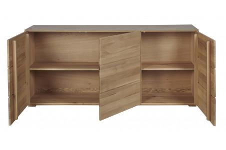Buffet en bois massif avec portes ouvertes Filigrame