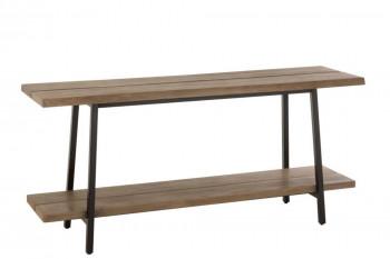Console en bois et métal L170 - NATURA