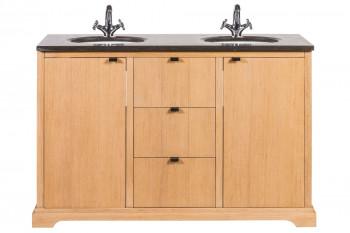 Meuble de salle de bain double vasque en chêne L135 - CAPRI