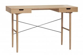 Bureau scandinave en bois 2 tiroirs - AKSEL