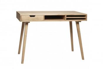 Bureau scandinave en bois 1 tiroir 3 niches - STINA