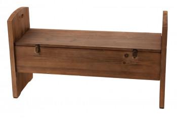 Banc coffre de rangement en bois - ALPIN