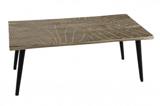 Table basse rectangulaire en bois sculpté - MASSAÏ