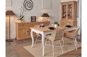salle à manger avec buffet deux portes en bois