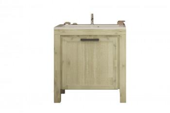 Meuble de salle de bain en acacia avec vasque 80 cm - MARKLE