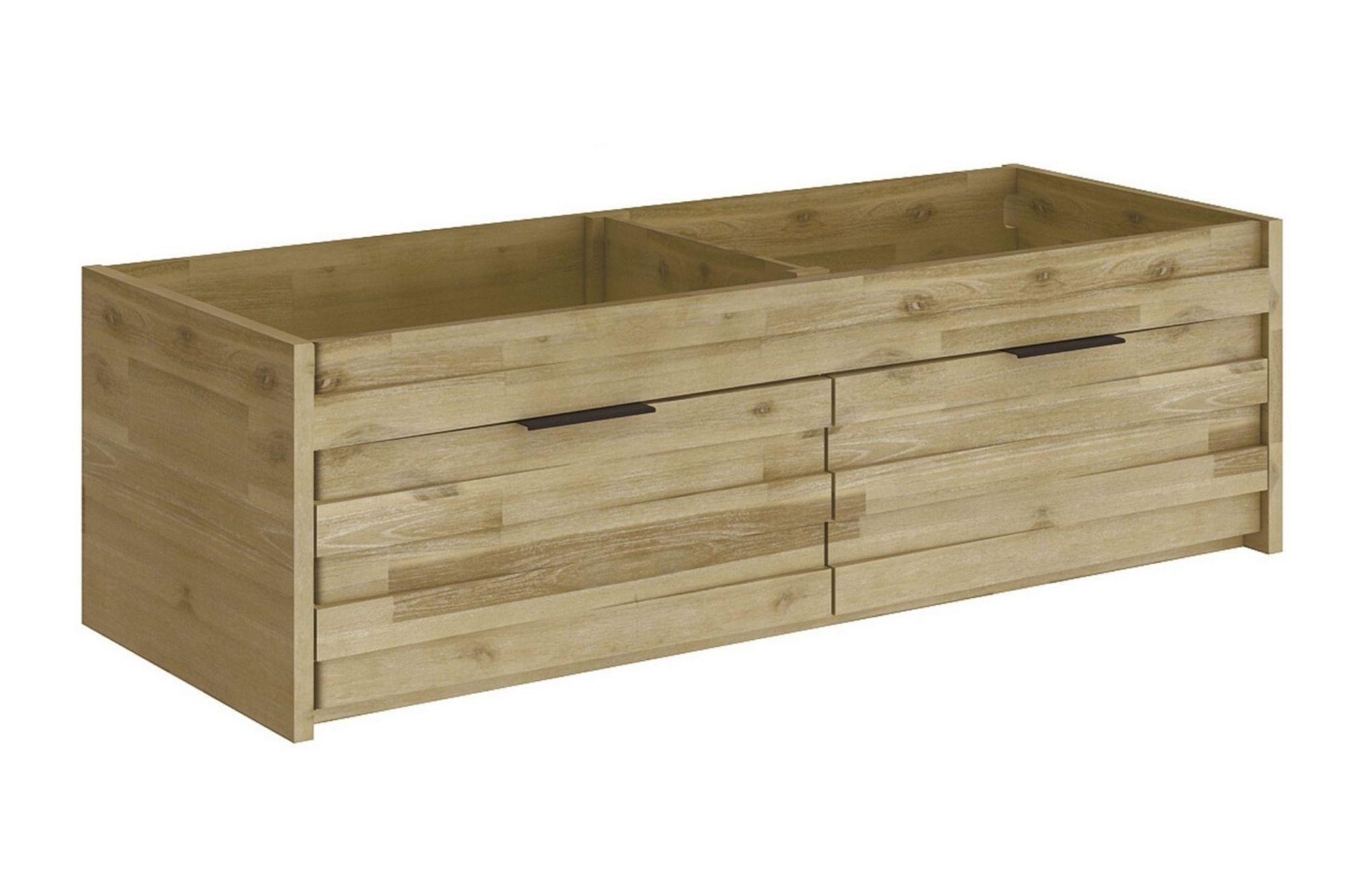meuble sous vasque double en bois 120 cm