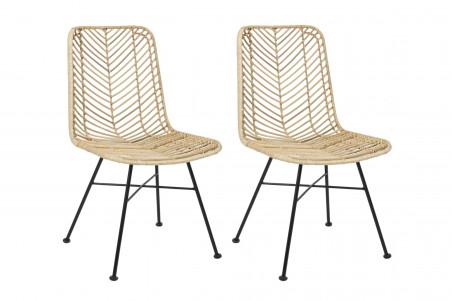 chaise en rotin naturel