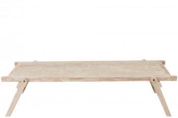 Table basse brut en bois massif recyclé - UTAH