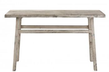 console en bois blanc délavé