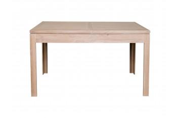 OCCASION Table carrée en chêne blanchi BOSTON L140