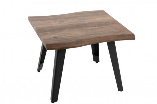 bout de canapé en bois et métal
