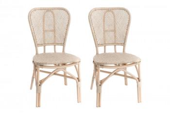 Chaise bistrot en rotin (lot de 2) - NICE