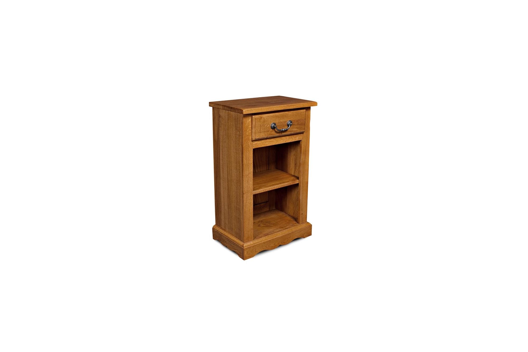 table de chevet rustique en bois massif hellin. Black Bedroom Furniture Sets. Home Design Ideas