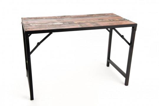 Bureau en bois recyclé et métal - KORK