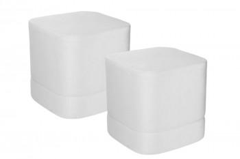 Pouf carré en velours (lot de 2) - DONOVAN
