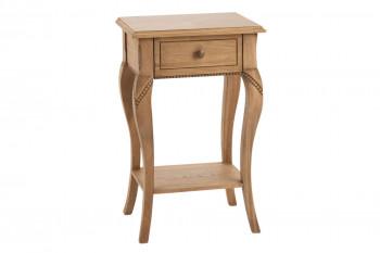 Table de nuit en bois 1 tiroir - MOSELLE