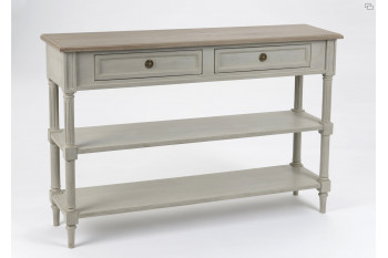 OCCASION Console 2 tiroirs 2 tablettes Edward