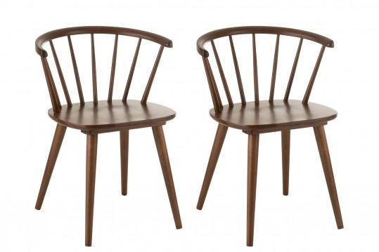 Chaises vintage en bois lot de deux