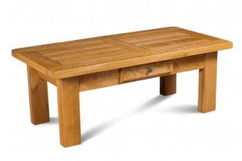 OCCASION Table basse rectangle LA BRESSE - bois chêne massif