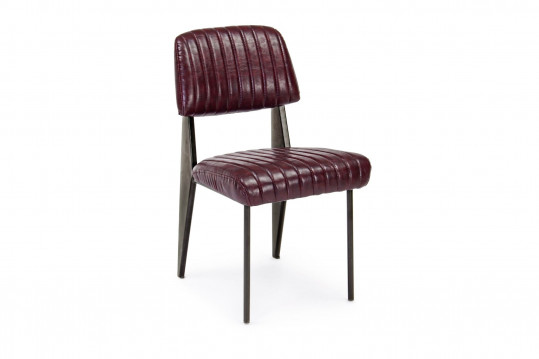 Chaise simili et métal  Vintage Lot de 2 - CLARK