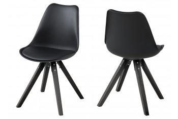 Chaises bois et résine - Coloris noir - EARL (Lot de 2)