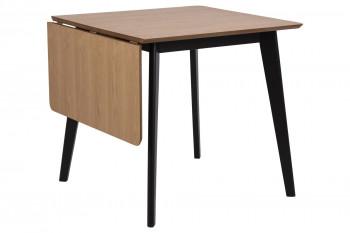 Table à manger carrée extensible en bois L80/120 - LETA