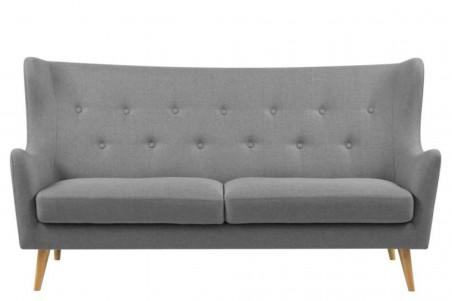 Canapé droit 3 places en tissu gris