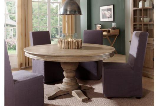 Table ronde Henri - bois chêne massif