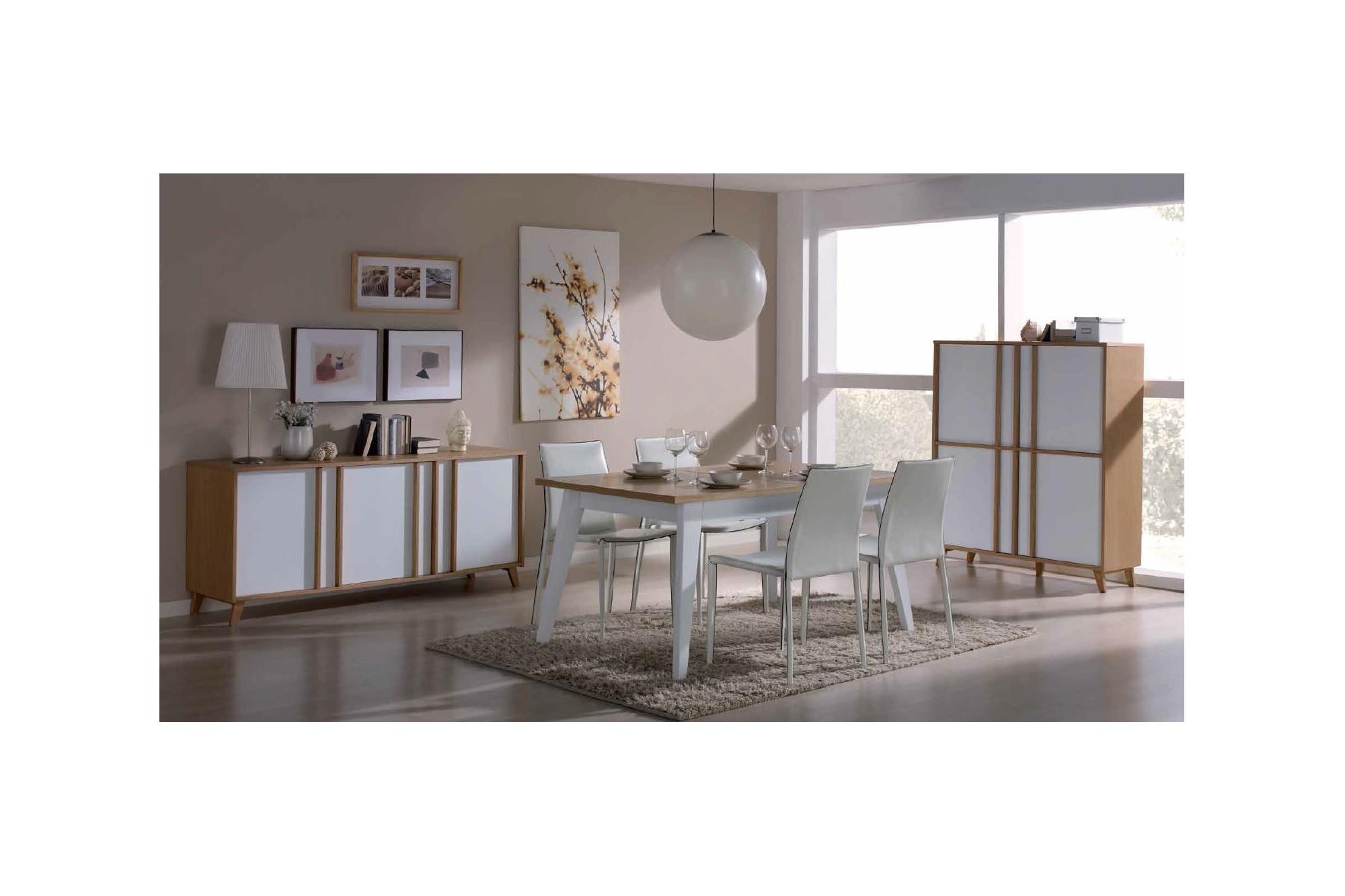 buffet moderne de salle manger collection mondrian. Black Bedroom Furniture Sets. Home Design Ideas