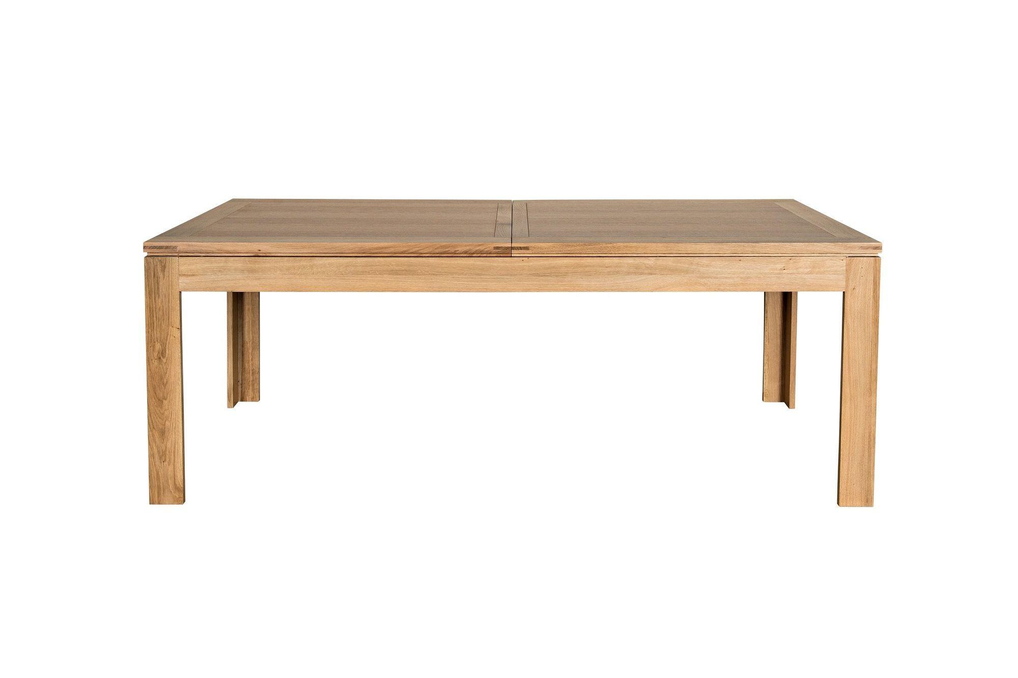 Table En Bois Chene Clair table moderne avec allonges centrales en chêne clair boston -hellin