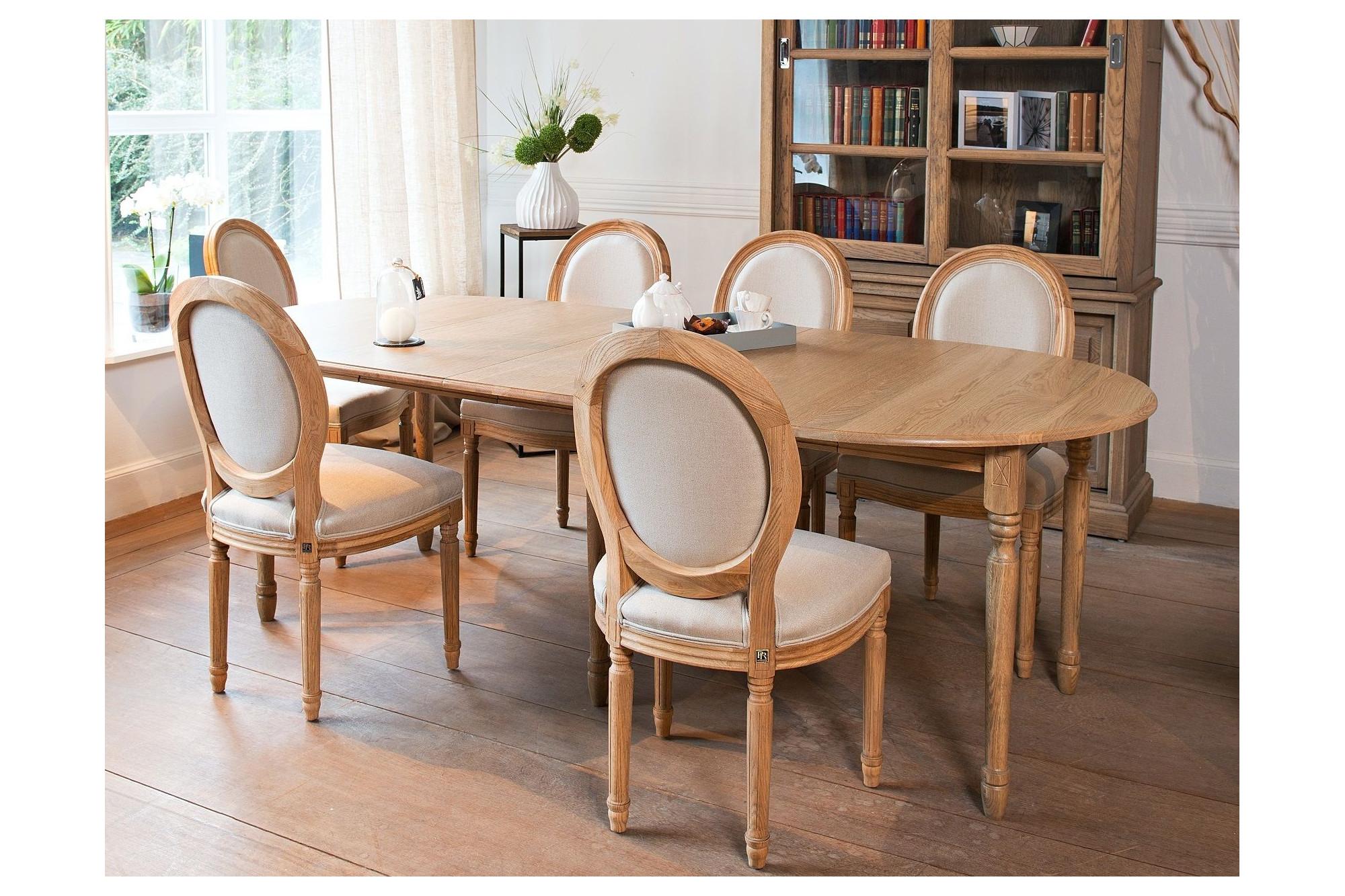 Table extensible ronde bois à rallonges - 115 cm - Pieds tournés - VICTORIA.  Appuyez pour agrandir 8ca96961d0e3