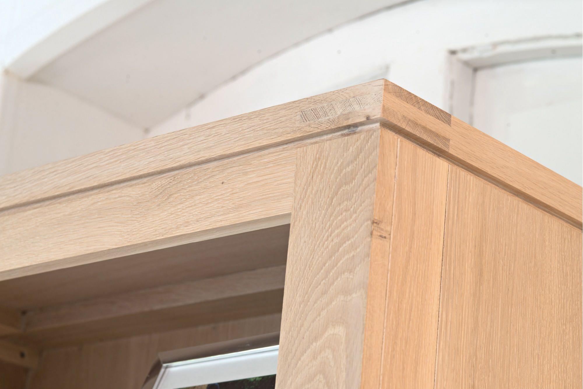 biblioth que moderne en bois massif ch ne blanchi boston hellin. Black Bedroom Furniture Sets. Home Design Ideas