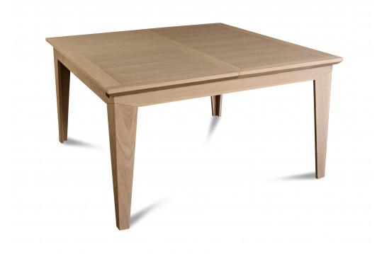 Table moderne carrée avec allonges FABRIC - Coloris Amande