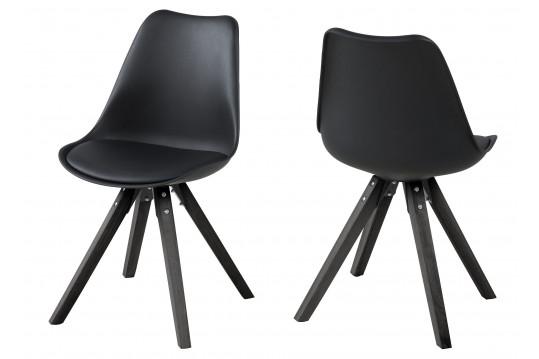 Lot de 2 chaises bois et résine EARL - Coloris noir