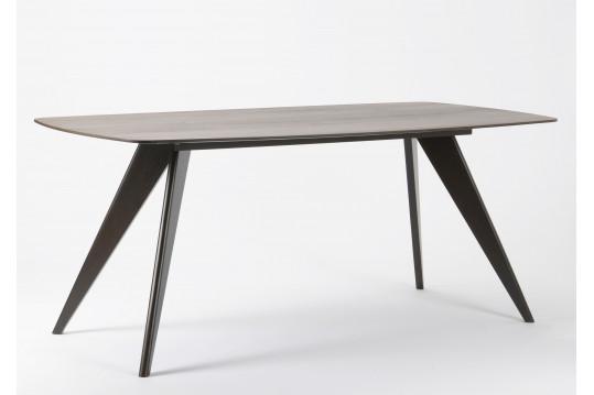 Table à manger WENGE - bois noir noyer