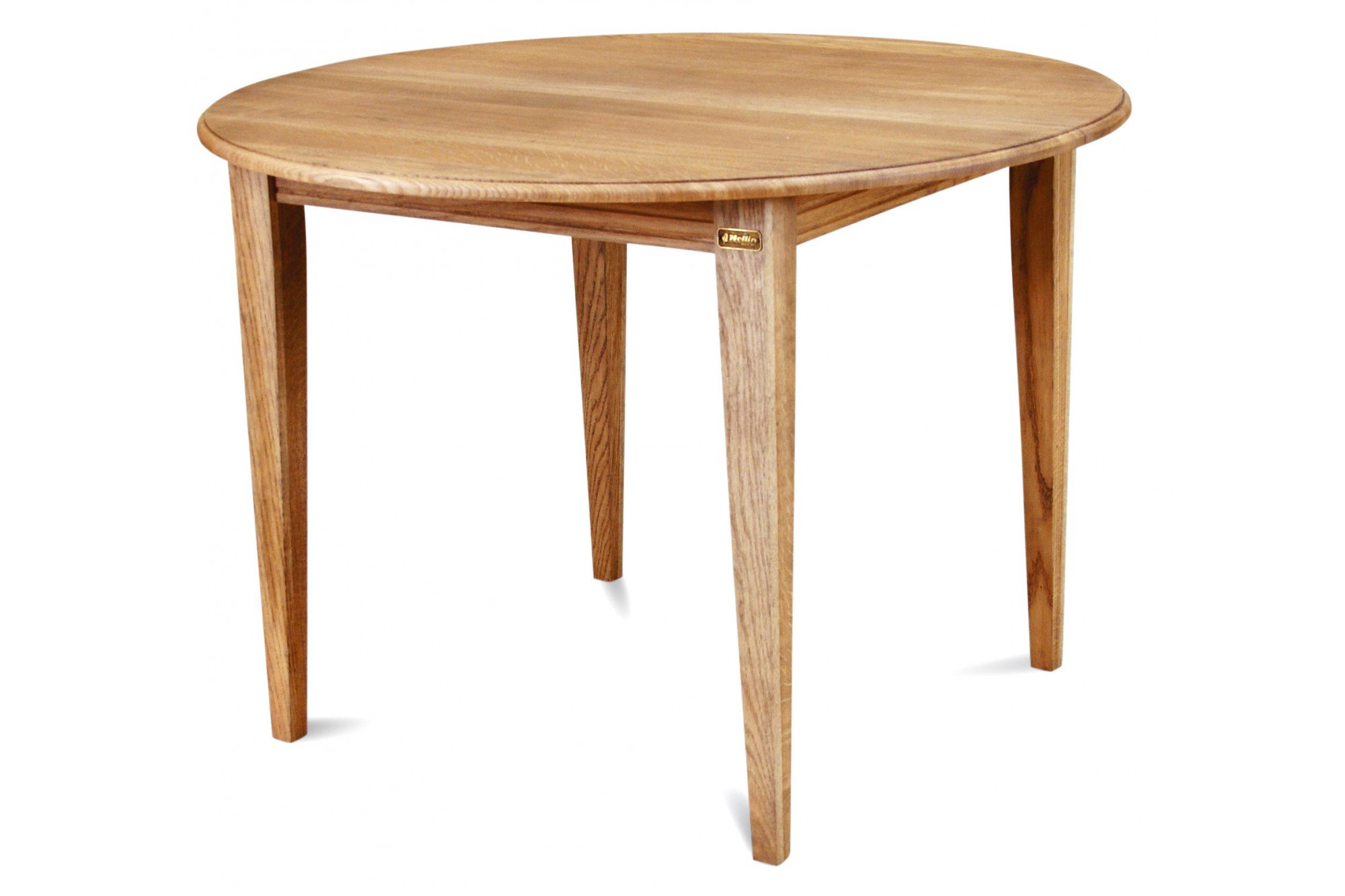 Table ronde extensible en ch ne massif une allonge hellin - Table en bois ronde ...