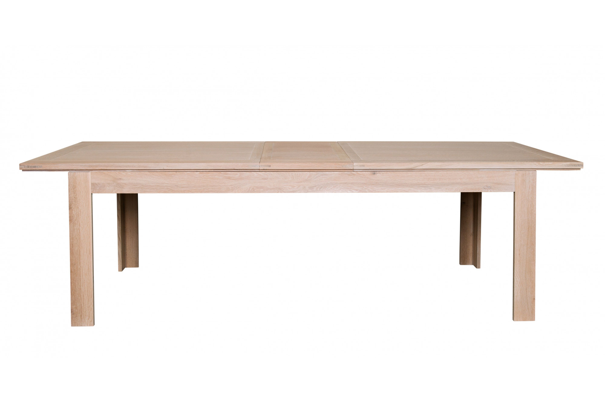 table moderne avec allonges centrales en bois et ch ne boston hellin. Black Bedroom Furniture Sets. Home Design Ideas