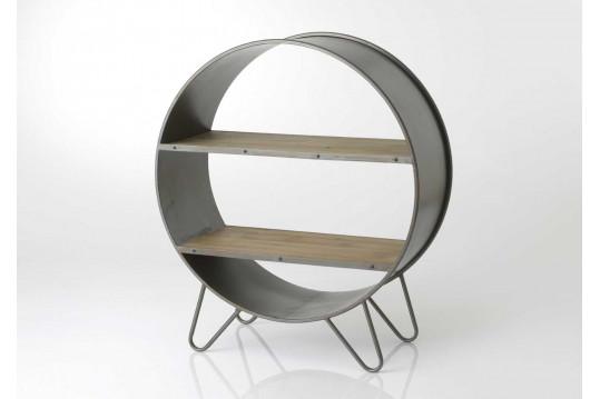 Bibliothèque bois et métal ronde MODO