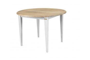 OCCASION Table ronde pieds fuselés VICTORIA - 105 cm - chêne blanc