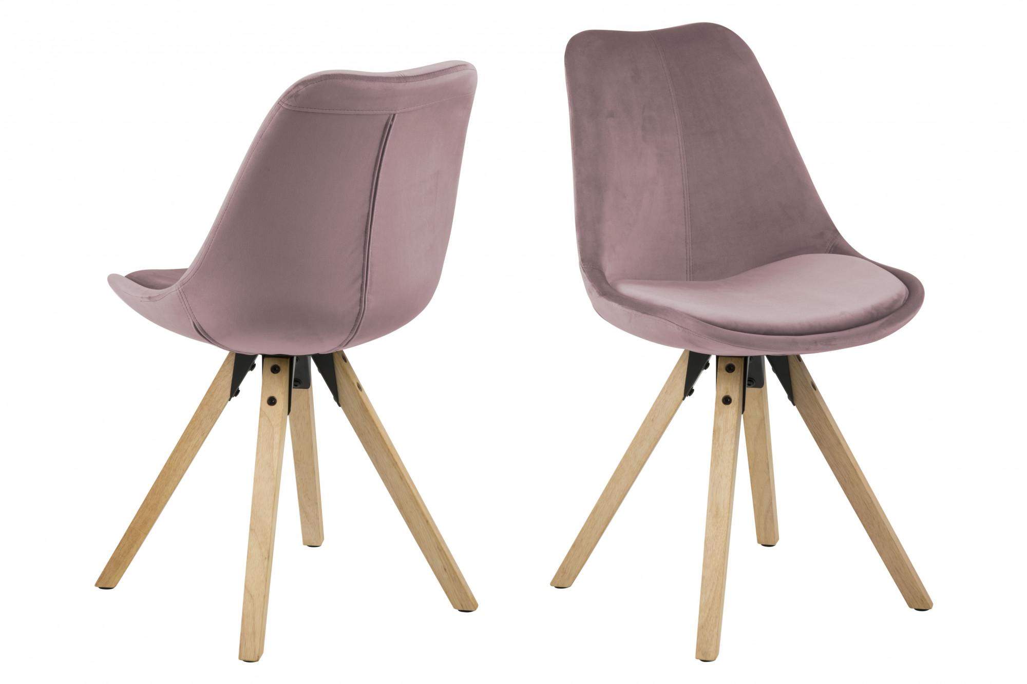 Quel Tissu Pour Chaise lot de 2 chaises moderne bois et en suedine - hellin