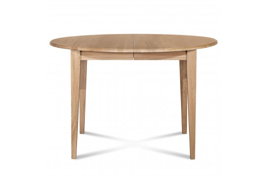 Table ronde extensible bois à rallonges - 105 cm - Pieds fuseau - VICTORIA