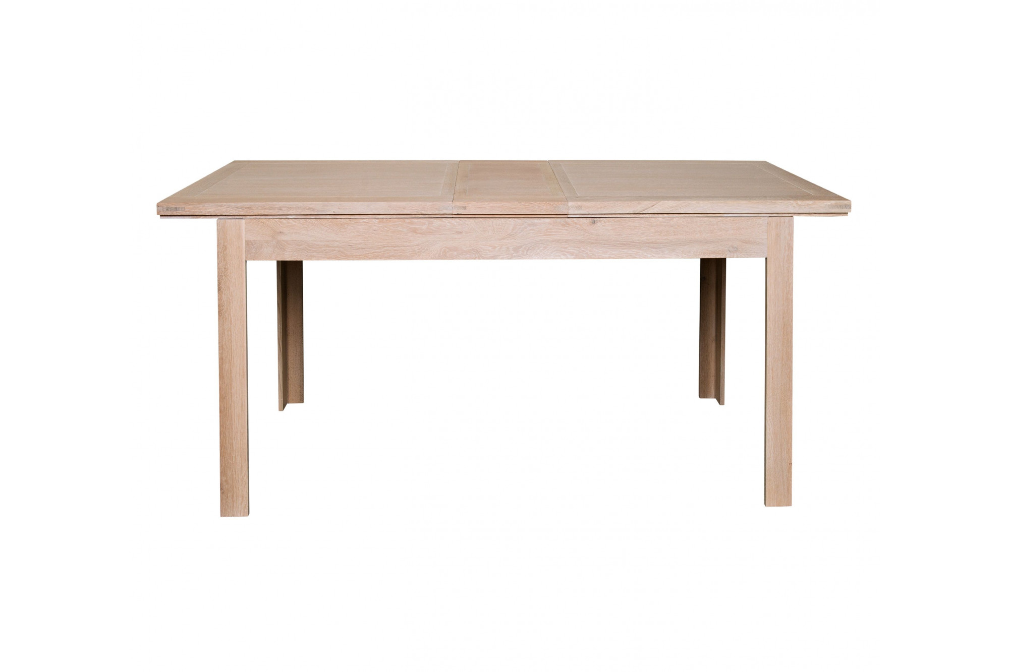 table manger carr e avec rallonges en ch ne ch ne. Black Bedroom Furniture Sets. Home Design Ideas
