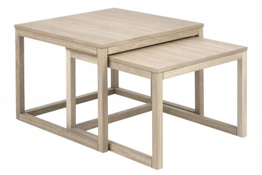 Table basse CORNER  Gigogne en chêne 70cm.