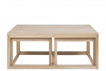 Table basse CORNER en chêne.