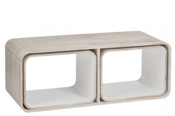 TABLE BASSE 3 PARTIES RETRO