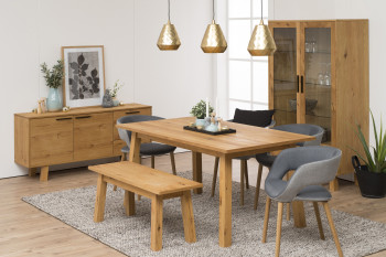 Ensemble table CHARLES + 2 allonges