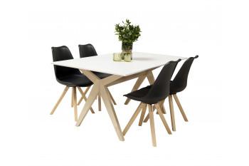 Table à manger rectangulaire Ciseaux