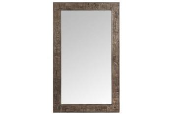 Miroir en bois naturel sculpté